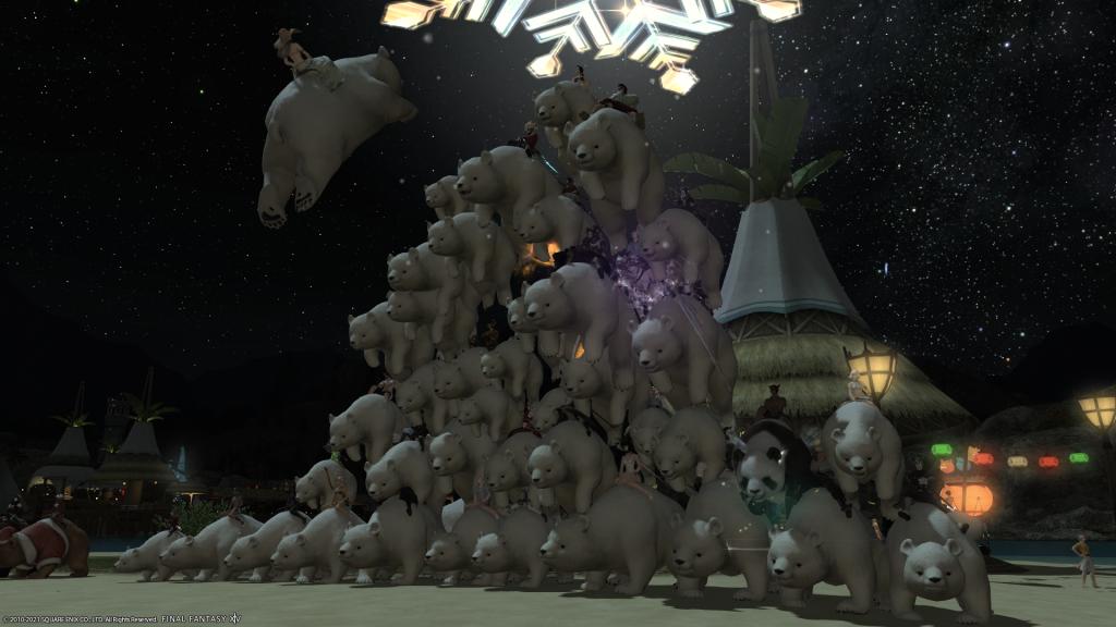Final Fantasy XIV - polar bearamid Cactuar